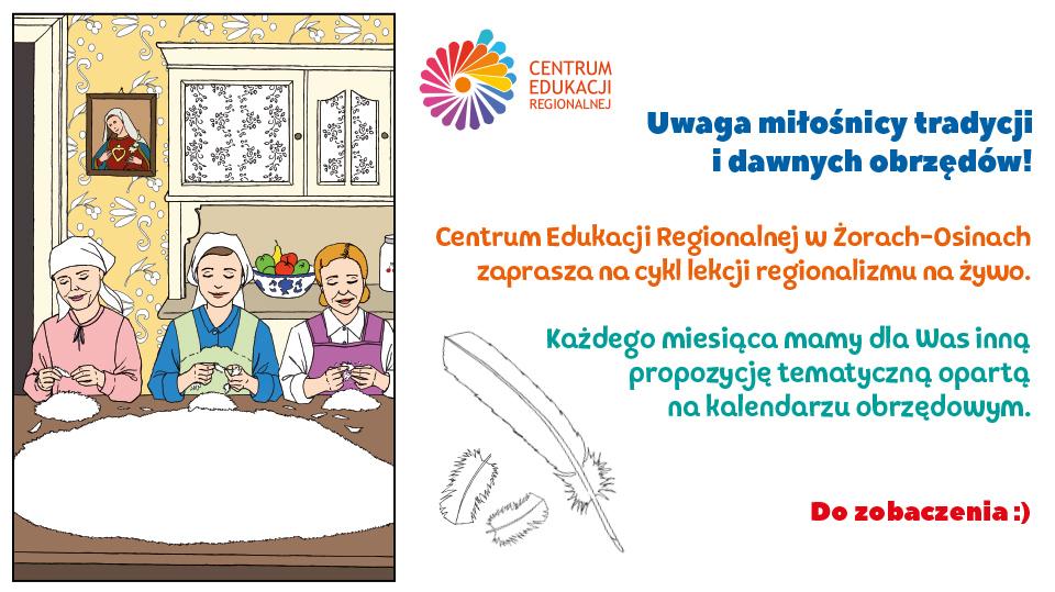 W JAŚKU PIÓRA - SZKUBACZKI. Zapraszamy na WARSZTATY. Zajęcia w Centrum Edukacji Regionalnej. Lekcje regionalizmu na żywo.